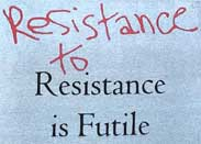 "thumbnail of ""Resistance to Resistance is Futile"" t-shirt"