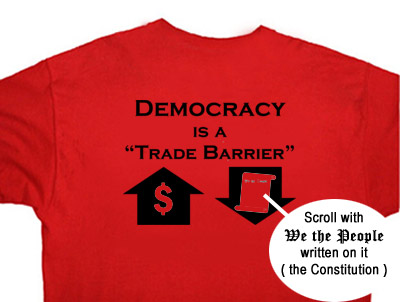 "Backside of ""Liberate the Media!"" t-shirt"