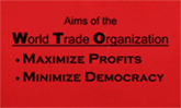 thumbnail of front of anti-WTO shirt